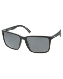Von Zipper Lesmore Black Satin Polarised Square Lens Sunglasses