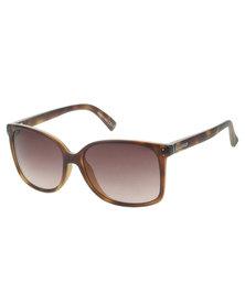 Von Zipper Castaway Tortoise Satin Gradient Lens Sunglasses Brown