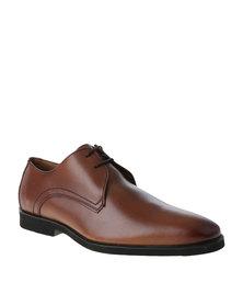 Watson Elite Clovis Formal Leather Lace Up Shoe Tan