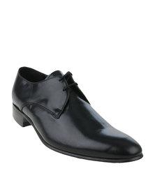 Watson Elite Kid Leather Formal Lace Up Shoe Leo Black