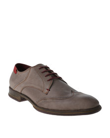 Watson Elite Liberty Formal Leather Lace Up Shoe Olive/Cherry
