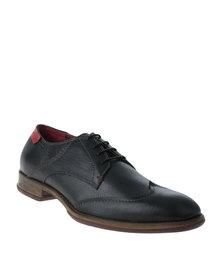 Watson Elite Liberty Formal Leather Lace Up Shoe Black
