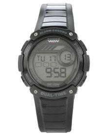 Win Active Silicone Digital Watch Black