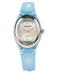Win Active Silicone Strap Analogue Watch Blue