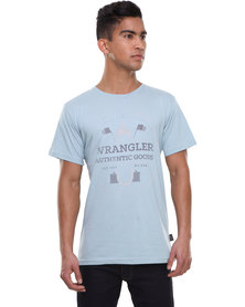 Wrangler Horsing Around Tee Blue