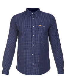 Wrangler Check Shirt Navy
