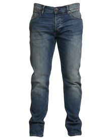 Wrangler Crank Straight-leg Jeans Blue