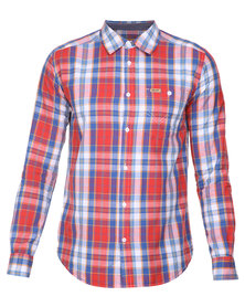 Wrangler Check Shirt Red