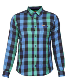 Wrangler Check Shirt Green