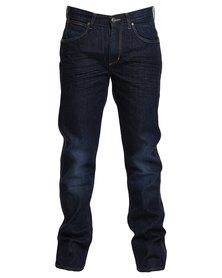 Wrangler Crank Straightleg Jeans Blue