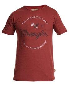 Wrangler Viroe's Eye T-Shirt Red