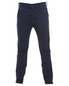 Wrangler Slim Straight Leg Chino Navy