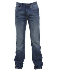 Wrangler Ace Straight Leg Jeans Blue