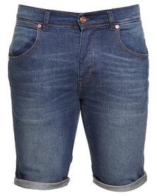 Wrangler Crank Shorts Dark Blue