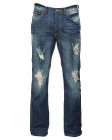 Wrangler Miles Regular Bootcut Jeans Blue