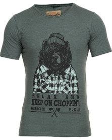 Wrangler Bear with Me T-Shirt Pine Melange