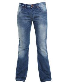 Wrangler Miles Bootcut Jeans Blue