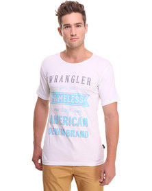 Wrangler Timeless Design Wide Slim Tee White