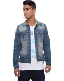 Wrangler Core Denim Jacket Blue