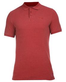Wrangler Polo Shirt Maroon