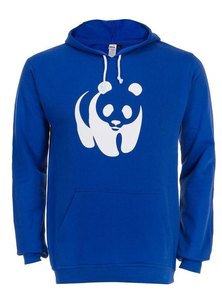WWF Panda Mens Hoodie Royal Blue