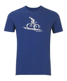 WWF Home Brewed Bicycle Rider Mens T-Shirt Blue