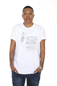 WWF Home Brewed Bicycle Solutions Mens T-Shirt White