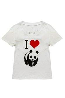 WWF I Love Panda T-Shirt White