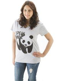 WWF I Speak Panda T-Shirt Grey