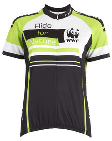 WWF KWay Cycling Top Green Black