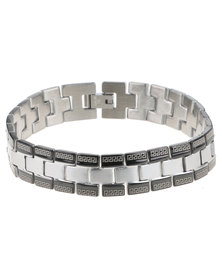 Xcalibur Stainless Steel Colour Block Bracelet Black/Silver-Tone
