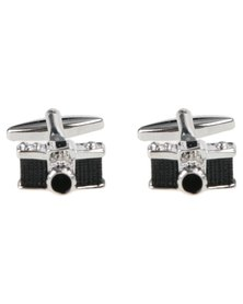 Xcalibur Mens Camera Love Cufflinks Silver-Tone