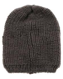 XOXO Knit Beanie Grey