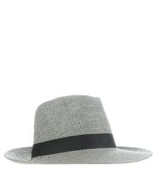 XOXO Straw Panama Hat Grey