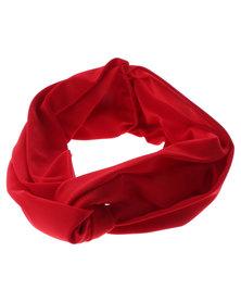 XOXO Plain Twist Headband Red