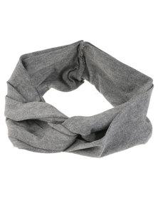 XOXO Plain Twist Headband Grey