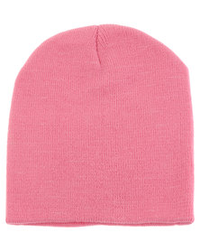 XOXO Fine Knit Beanie Faded Pink