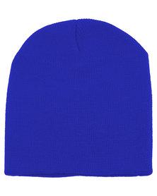 XOXO Fine Knit Beanie Cobalt