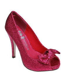 Xti Heels Glitter Fuchsia