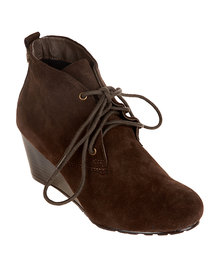 Xti Ankle Boot Wedge Taupe