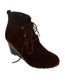 Xti Ankle Boot Wedge Brown