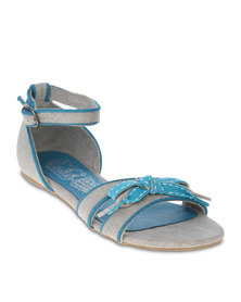 Xti Casual Sandals Textile Blue