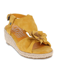 XTI Heeled Sandals Yellow