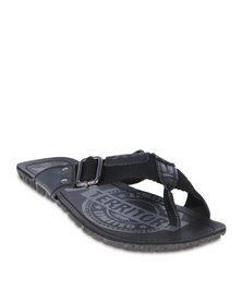 XTI Men Crossover Sandals Black