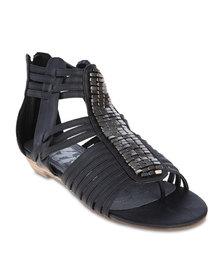 XTI Flat Sandals Black