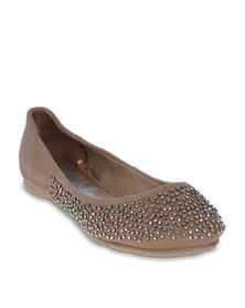 XTI Beaded Pumps Taupe