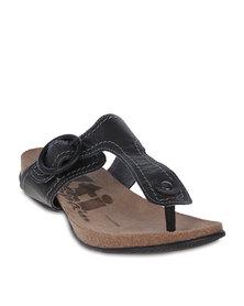 XTI Y-Thong Sandals Black