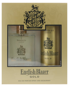 Yardley English Blazer Gold 100ml EDT with Free Deo