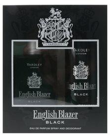 Yardley English Blazer Black 100ml EDT with Free Deo