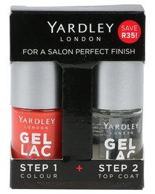 Yardley Gel Lac Nails Duo and Topcoat Coral